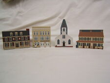 Lot of 3 Shelf Sitters Akron, Pennsylvania Cat's Meow Fire Co Bella Vista Church