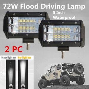 2x 24LED Car Truck Offroad Work Light Bar Flood Beam Driving Fog Lamp w/ Bracket
