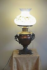 "Rare Antique Miller Juno Electric Banquet Brass ""928"" Lamp"