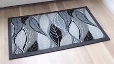 Paillasson tapis de sol 3868/02 foglie GRIGIO feuilles Gris 40x68cm