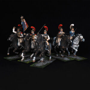 Tin soldier, Attack of the Carabinieri France 1805-1812, 54 mm