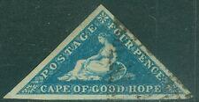 CAPE OF GOOD HOPE : 1855. Stanley Gibbons #6 Used. XF. Huge margins. Cat £85