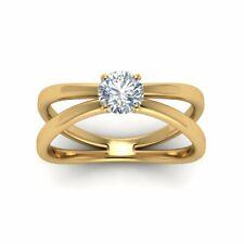 Solitär Brillant Diamantring 0,75 Karat Diamant 585 Gelbgold SI1 D Zertifikat