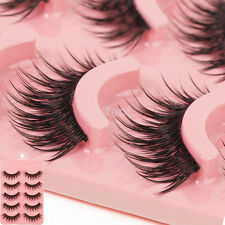 5 Pair Natural Eye Lashes Handmade Super Thick False Eyelashes Black Long New