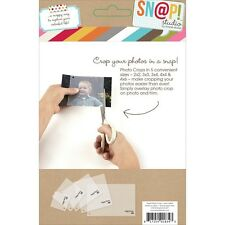 Simple Stories SNAP4064 Sn@p! Photo Crops 5/Pkg-Square & Rectangle NEW