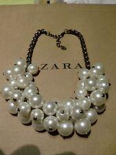 Zara Ethno mega statement Kette necklace boho top Blogger Bling Perlen