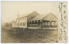 RPPC Railroad Depot Station GLENVILLE PA Vintage York County Real Photo Postcard