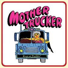 Mother Trucker   Vintage 70's style  travel decal luggage label   Bumper Sticker