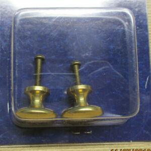 """BRASS 1"""" ROUND KNOB DRAWER PULLS PR 7219165  WEST MARINE (*1466SH)"""