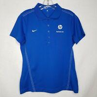Nike Womens Blue Dri-Fit Hewlett Packard HP Cloud S/S Polo Shirt SZ Medium P423