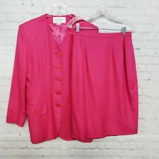 Jones New York Women's Skirt Suit Size 12 Pink Lined Two Pieces Business Career