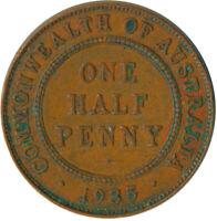 1932 HALF PENNY / GEORGE V. - AUSTRALIA 1935    #WT4945