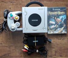 NINTENDO GameCube LOT: Platinum Silver Console DOL101 + Controller + Game