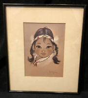 Vintage Gerda Christoffersen Framed Print Native Indigenous Child Eskimo