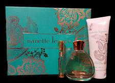 NANETTE LEPORE 3PC GIFT SET Eau De Parfum 3.4oz   Fragrance Perfume IN BOX $171.
