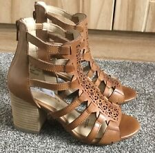 BNWT HUSH PUPPIES WOMEN LEATHER SHOES ANKLE HEELS SANDALS SIZE 4UK 37E wide £80