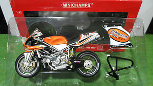 MOTO  DUCATI 998 R F02 WSB 2003 Chris Walker 1/12 Minichamps 122031209 miniature