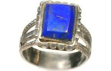 18thC Russian Ukrainian Crimean Black Sea Tatars Silver Ring Lapis Lazuli Sz 10¾