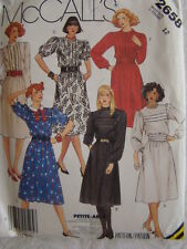 McCall's Sewing Pattern 2658 Office Business Dress size 12 UNCUT Vintage 1980's