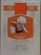 2011 PANINI DOMINION CHRIS PRONGER AUTHENTIC GAME WORN JERSEY #86/99