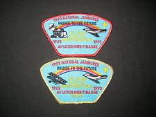 1993 National Jamboree Aviation Merit Badge Staff pair of JSPs