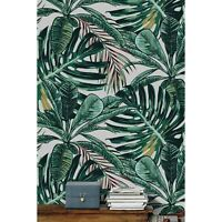 Tropical Palm Leaves Non-Woven wallpaper delicate Traditional watercolor Mural