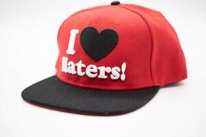 Red Black - DGK - I Love Haters - Adjustable Snapback skateboard Hat Cap OSFA