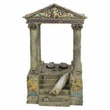 Aquatic Aquarium Decor Fish TankTemple Ruins & Steps Ornament 11x13x20cm