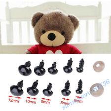 100Pcs Plastic Safety Toy Screw Eyes Kit for Teddy Bear Doll Animal DIY Craft