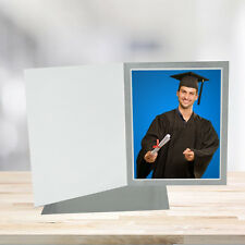 5x7 Classic Gray Cardboard Photo Folders - Pack of 25