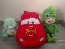 Lot Of 3 Disney Plush Dolls Lightening McQueen Gecko Care Bear