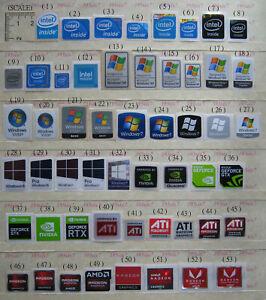 intel inside Sticker / ATI Sticker / Nvidia Geforce GTX RTX Sticker / OS Sticker