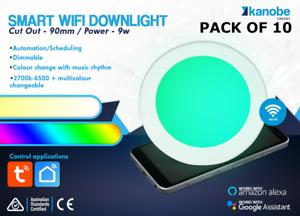 10 Pack Saver - Smart WiFi Downlight 9W RGB CCT 2700-6500k DIM & VOICE CONTROL