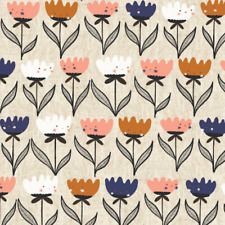 Organic Cotton Fabric, 'Flower Friends from Plant Peeps Range' Cloud9 Quilters
