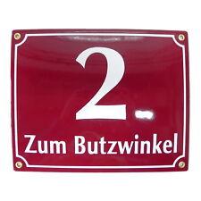 Nummernschild 20x25cm Hausnummer individuell Projekt 10 Jahre Garantie Emaille