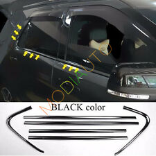 For Ford Explorer 2011-2017 Stainless Black Windows Pillar Side Cover Trim 6pcs