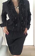 LEONA EDMISTON FROCKS WOMENS DRESS POLKA DOT COTTON BLACK WHITE MADE IN AU SZ 3