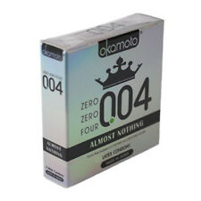 004 0.04 3x Condoms Almost Nothing Ultra Thin Lubricated Latex by Okamoto 3ct