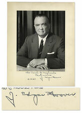 J. Edgar Hoover Signed Photograph w FBI Envelope