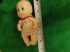"""Gerber 6"""" Soft Vinyl rubber Baby boy Dol marked l lucky industry 1989"""