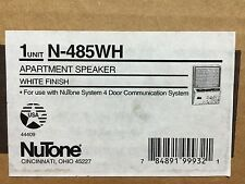 *NEW* Nutone N-485WH Apartment Intercom Speaker for 478 door entry amplifier 485