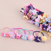 10x Girls Kids Hair Accessories Elastic Hair Band Ties Rope Ponytail Holder Kits