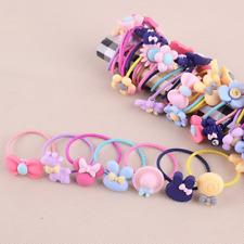 10x Baby Kids Girls Hair Accessories Elastic Hair Band Ties Rope Ponytail Holder