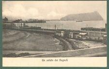 CAMPANIA. BAGNOLI, (Napoli). Un saluto da Bagnoli. Cartolina viaggiata nel 1912