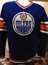 NHL Edmonton Oilers Men's Blue Crew neck sweater  Medium
