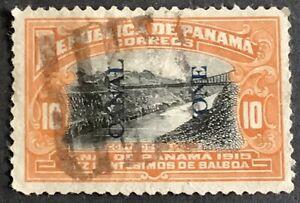 US Panama Canal Zone. 10 c. Blue Overprint. 1915. Sc. 42. No reserve $1