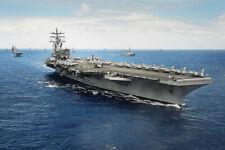 U.S. Navy Uss Ronald Reagan Cvn76 At Rimpac 2014 12x18 Silver Halide Photo Print
