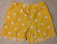 Women's Jennifer Women Yellow & White Polka Dots Dress Shorts》Size 20