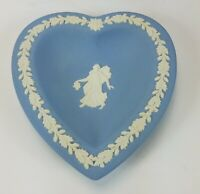 Wedgwood Jasperware Blue Mini Tray Heart Plate with Box
