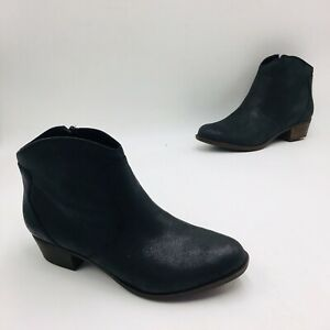 Lucky Brand Women's Belia Leather Ankle Bootie Size 11W Black